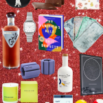 collage of different holiday gifts